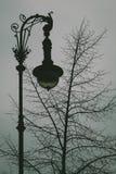 Weinlese-Straßenbeleuchtung Stockfoto