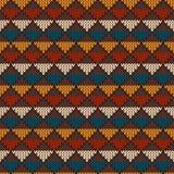 Weinlese strickte nahtloses Muster in der angemessenen Inselart Hippie Swe Stockbilder
