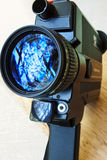 Weinlese-Super8 Film-Kamera Stockfoto