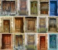 Weinlese-Türen Stockfoto