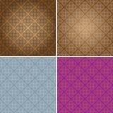Weinlese-Tapeten-nahtloses Muster-ursprüngliche Auslegung Lizenzfreie Stockbilder