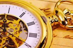 Weinlese-Taschen-Uhr Lizenzfreies Stockfoto