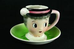 Weinlese Teacup Lizenzfreie Stockfotografie