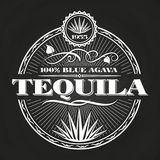 Weinlese Tequila-Fahnendesign auf Tafel lizenzfreie abbildung