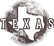 Weinlese Texas Sign stock abbildung