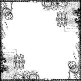Weinlese-Text-Collagen-viktorianisches Hintergrund-Papier Stockfotografie