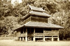 Weinlese thailändische Lana Style House Lizenzfreies Stockbild
