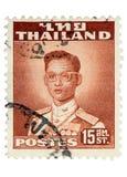 Weinlese-Thailand-Briefmarke Lizenzfreie Stockbilder