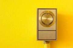 Weinlese-Thermostat Lizenzfreies Stockbild