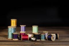 Weinlese-Thread-Spulen Stockfotos