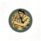 Weinlese-Tischlershopwerbung Stockfotografie