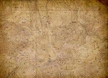 Weinlese-topographische Karten-Hintergrund Stockbilder