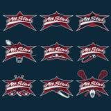Weinlese trägt All-Star- Kämme zur Schau Stockbilder