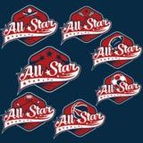 Weinlese trägt All-Star- Kämme zur Schau Lizenzfreie Stockbilder