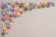 Weinlese transparente paperstars für Weihnachtsgrüße oder -werbung Stockfotografie