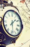 Weinlese-Uhr in der Retro- Filmart Stockfoto