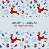 Weinlese-unbedeutende Weihnachtskarte Lizenzfreies Stockbild