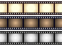 Weinlese-unbelegtes Film-Streifen-Feld Stockfoto