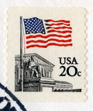 Weinlese US 20 Cent-Briefmarke Stockbild
