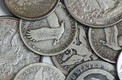 Weinlese US-Münzen Stockbild