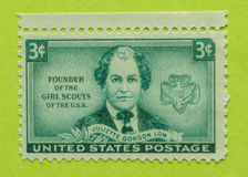 Weinlese USA-Briefmarke Lizenzfreie Stockfotografie