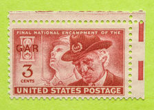 Weinlese USA-Briefmarke Lizenzfreie Stockfotos