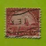 Weinlese USA-Briefmarke Lizenzfreies Stockbild