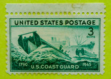 Weinlese USA-Briefmarke Stockfotos