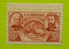 Weinlese USA-Briefmarke Stockfoto