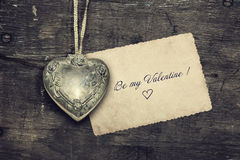 Weinlese Valentine Background Lizenzfreies Stockfoto