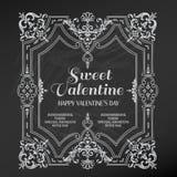 Weinlese-Valentinsgruß-Tageskarte Lizenzfreie Stockbilder
