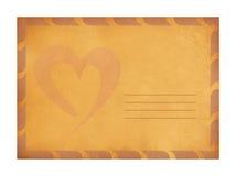 Weinlese-Valentinsgrußhintergrund Lizenzfreie Stockfotografie