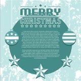 Weinlese-Vektor-Weihnachtshintergrund Stockfotografie