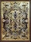 Weinlese vergoldete kopierte Platte Stockbilder