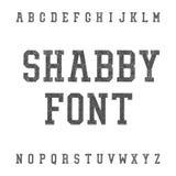 Weinlese verkratzter Guss im Shabby-Chic-Stil Platte Serif Grunge lizenzfreie abbildung