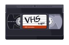 Weinlese VHS-Bandillustration auf weißem Hintergrund lizenzfreie abbildung