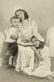 Weinlese Victorian-Familienporträt Stockbilder