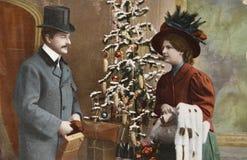 Weinlese Victorianweihnachten Lizenzfreies Stockfoto