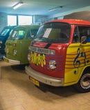 Weinlese Volkswagen-Packwagen Stockbilder