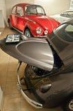 Weinlese VW-Autos in einem Automuseum Lizenzfreies Stockfoto