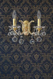 Weinlese-Wand-Lampe mit der luxuary Wand Beschaffenheit Lizenzfreies Stockfoto