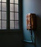Weinlese-Warmwasserbereiter, La Pedrera, Casa Mila, Barcelona Lizenzfreie Stockfotografie
