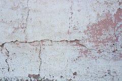 Weinlese-weiße und rosa Wand Lizenzfreies Stockfoto