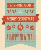Weinlese-Weihnachtsauslegung Stockbilder
