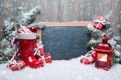 Weinlese-Weihnachtsdekoration Stockfotos