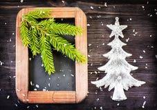 Weinlese-Weihnachtsdekorationen lizenzfreies stockfoto