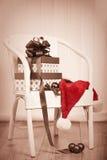 Weinlese-Weihnachtsgeschenke Stockbilder