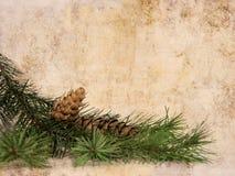 Weinlese-Weihnachtshintergrund Lizenzfreie Stockbilder