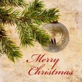 Weinlese-Weihnachtshintergrund lizenzfreies stockbild