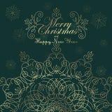 Weinlese-Weihnachtshintergrund für Einladung, lizenzfreie abbildung
